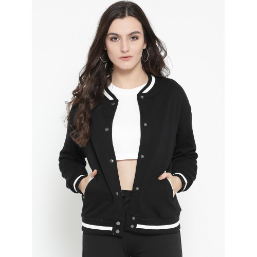 73d3f767e82 Buy OVS Women Black Solid Sweatshirt online