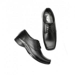 Baton Black Formal Lace-up Shoes