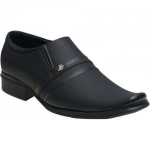 Oora Black Formal Slip On Shoes
