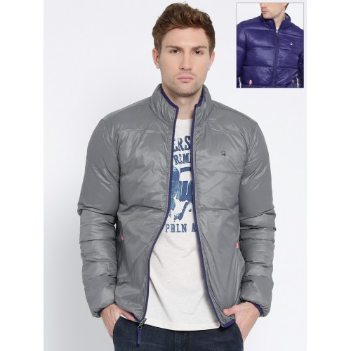 58f0c6797 Buy United Colors of Benetton Grey   Blue Reversible Puffer Jacket ...