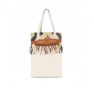 Vivinkaa Off-White Printed Tote Bag