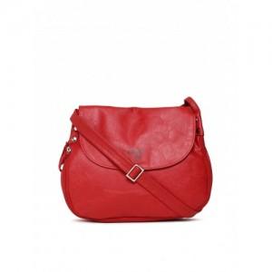 Baggit Red Solid Sling Bag