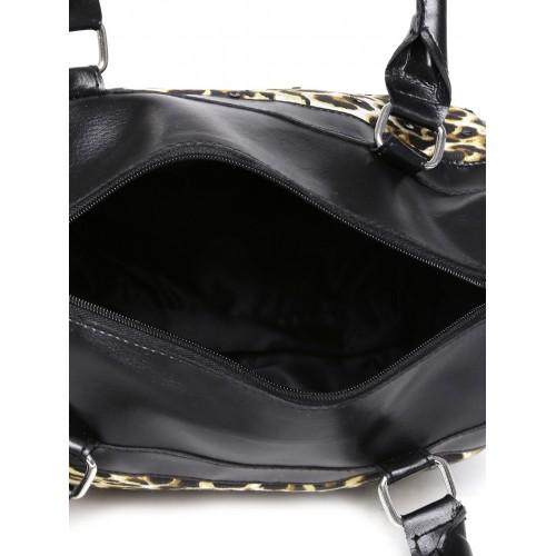 a8adb1a173 Buy DressBerry Black Animal Print Handbag online