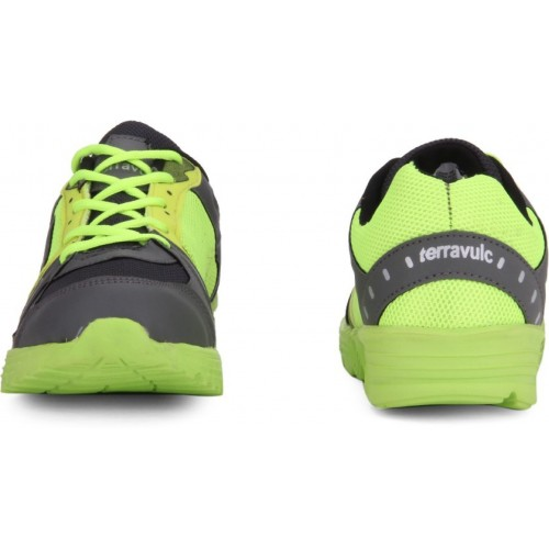 Terravulc Green Synthetic Lace Up Sports Shoes