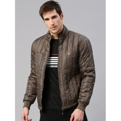 Buy HRX by Hrithik Roshan Men Brown Solid Active Padded Jacket ...