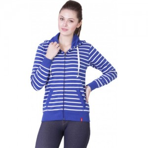 Wake Up Competition Full Sleeve Striped Women's Sweatshirt