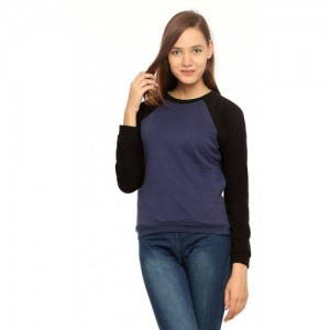 Vvoguish Full Sleeve Solid Women's Sweatshirt