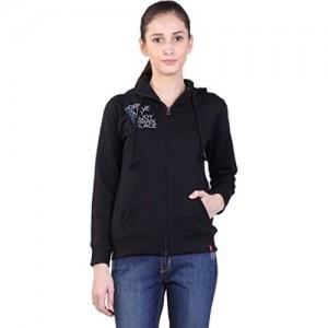 WAKE UP COMPETITION Women's Cotton Sweatshirt - (GS-15-108, Black, Small)