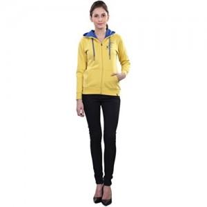WAKE UP COMPETITION Women's Cotton Sweatshirt - (GS-15-201, Yellow, Large)