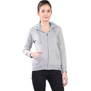 WAKE UP COMPETITION Women's Cotton Sweatshirt - (GS-15-101, Grey-Melange, X-Large)