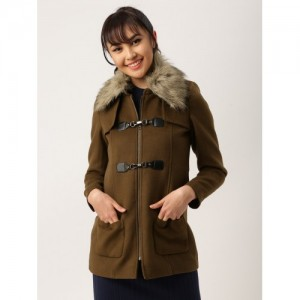 DressBerry Brown Wool Trench Coat