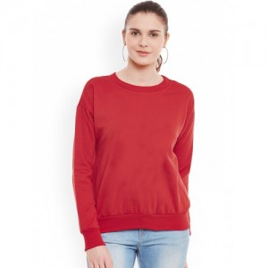 Belle Red Black Sweatshirt
