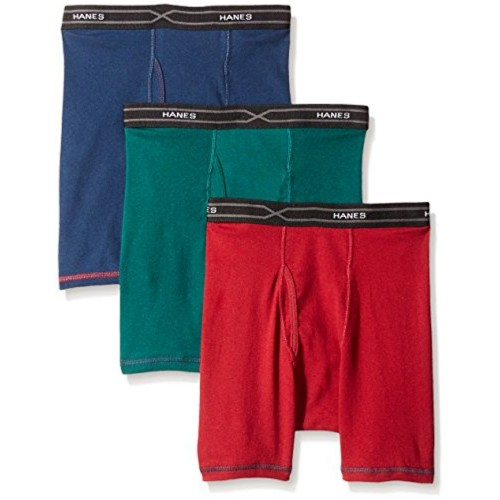 0c53e563f844 ... Hanes Red Label Men's Hanes 3-Pack X-Temp Comfort Cool Dyed Assorted  Boxer ...