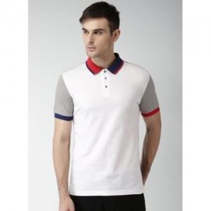 Invictus White Solid Regular Fit Polo T-Shirt