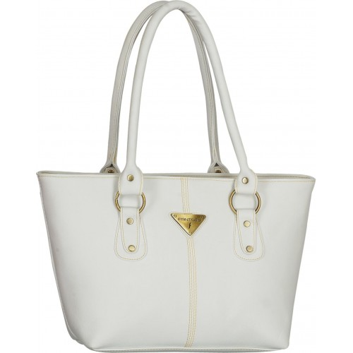 Fantosy White PU Solid Hand-held Bag