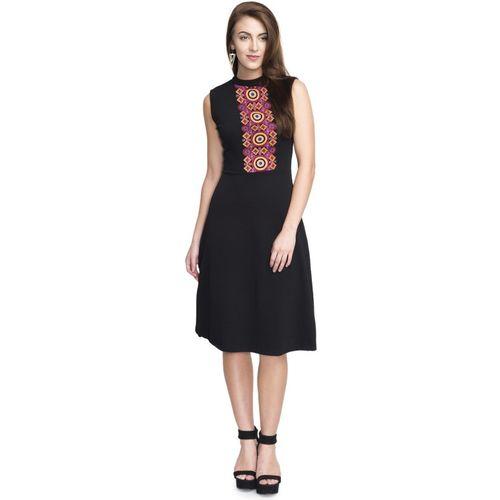 Addyvero Women A-line Black Dress