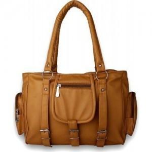 Flora Premium PU Leather Women's Handbag (Mustard Color)