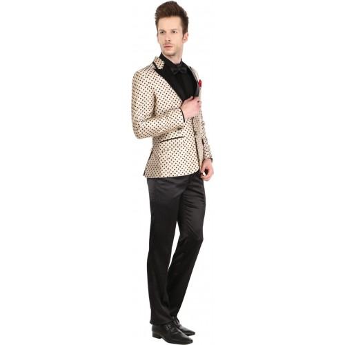 Platinum Studio Tuxedo Style Printed Men Suit