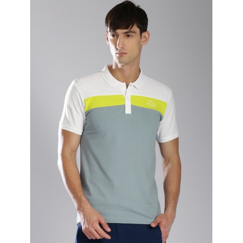 824eeda18a64 Buy Kappa Men Grey Solid Polo Collar T-shirt online | Looksgud.in
