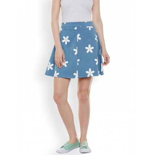 25a296c5a4 Buy Rider Republic Blue Floral Print Mini A-Line Skirt online ...