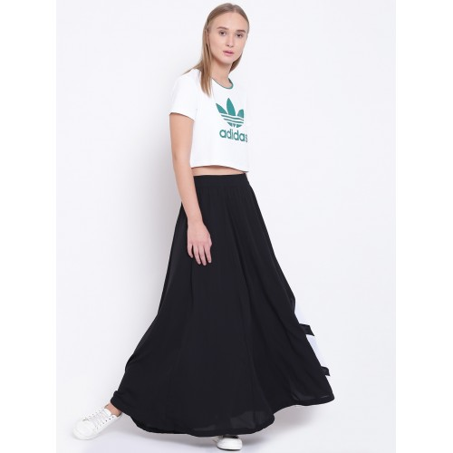 Dispuesto evolución capacidad  Buy Adidas Originals Black EQT Flared Maxi Skirt online | Looksgud.in
