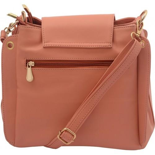 Deniza Women Pink Leatherette Sling Bag