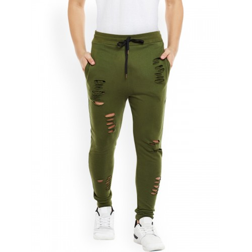 a7e1f91d Home · Men · Clothing · Track Wear. FUGAZEE Olive Green Distressed Tapered  Slim Fit Joggers; FUGAZEE Olive Green Distressed Tapered Slim Fit Joggers  ...