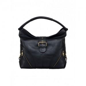 Klasse black leather regular handbag