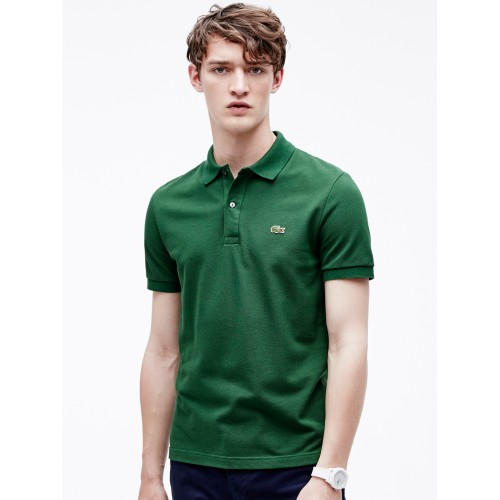 ab9c68185 Buy Lacoste Green Slim Fit Petit Pique Polo online