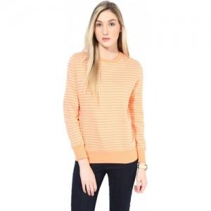 T Shirt Company Full Sleeve Striped Women's Sweatshirt