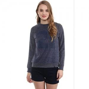 The Vanca Navy Blue Embellished Sweatshirt