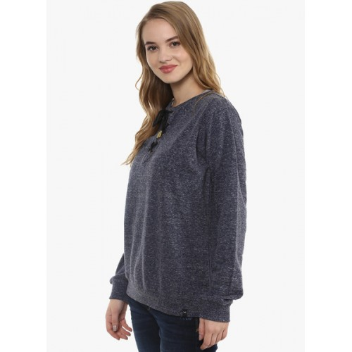 7c9f54556e Buy The Vanca Round neck sweatshirt with tie up detail at neckline ...