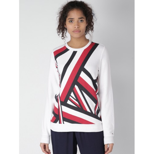 e2b33422 Buy Tommy Hilfiger Women White Printed Sweatshirt online ...