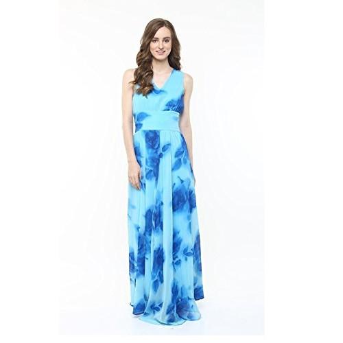 e3dc1f62778 Buy Harpa Sky Blue Women s Maxi Dress (GR3373-SKYBLUE) online ...