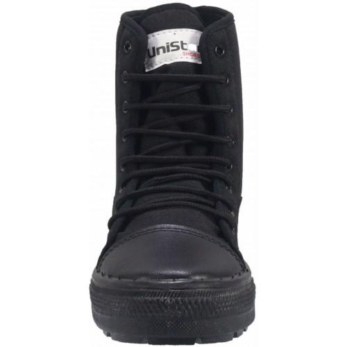 a0f1e016e559 Buy Unistar Black Canvas High Ankle Jungle Boots online
