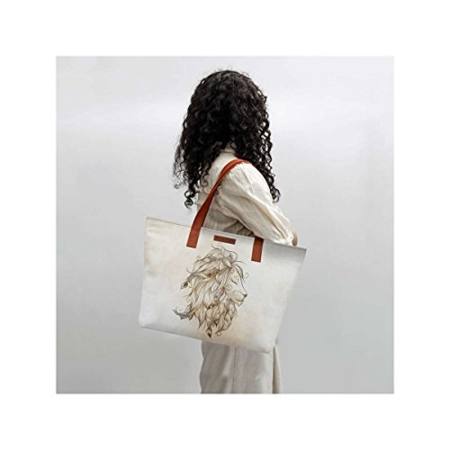 c2d6994f538 Buy DailyObjects Poetic Lion Fatty Tote Bag online | Looksgud.in