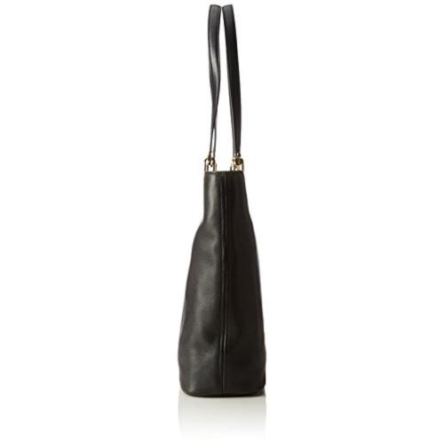 38cae4059f75 Buy Michael Kors Raven Large North South Top Zip Tote (Black) online ...