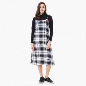 MAX Turtle Neck Layered Midi Dress
