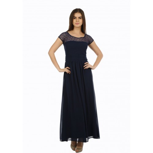 Eyelet Women's Blue Dress