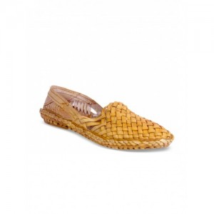 Panahi Yellow Leather Slip-On Mojaris