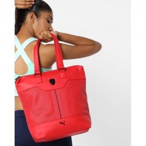 Puma Red Shopper Tote Bag