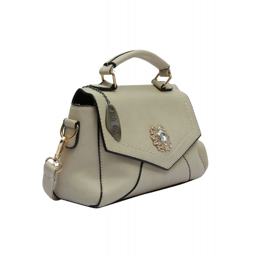 f3d3d2f387f Buy Pepgirls Beige Leatherette Sling Bag online