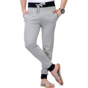 WellFitLook Solid Men's Grey Track Pants