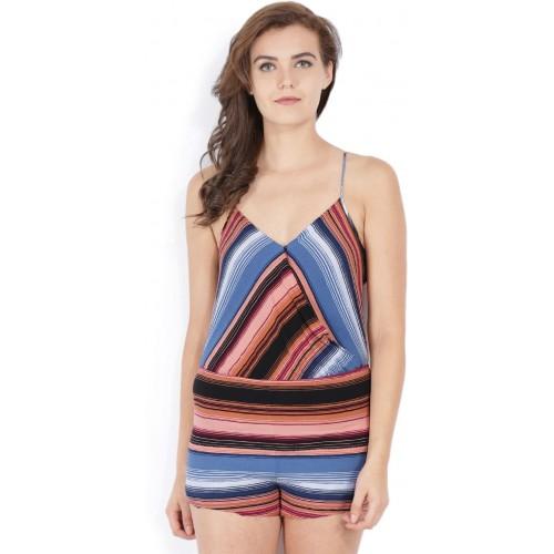 0e949271d6ac Forever 21 Striped Women s Jumpsuit  Forever 21 Striped Women s Jumpsuit ...