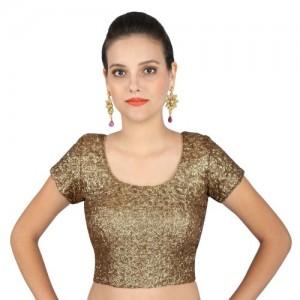 Yosshita & Neha Yosshita & Neha Antique Gold Sequin Blouse YNB023-34