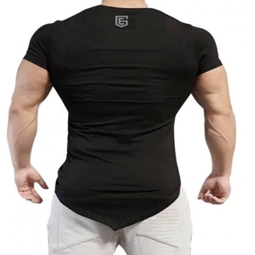 The EG Store Black Polyester V-Neck T-shirt