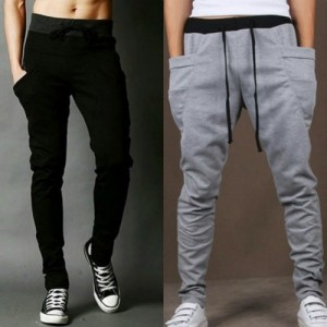 ToYouth Black & Gray Polyester Trackpants Combo of 2