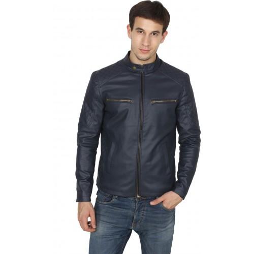Fashion Mantra Blue Full Sleeve Solid Men Jacket