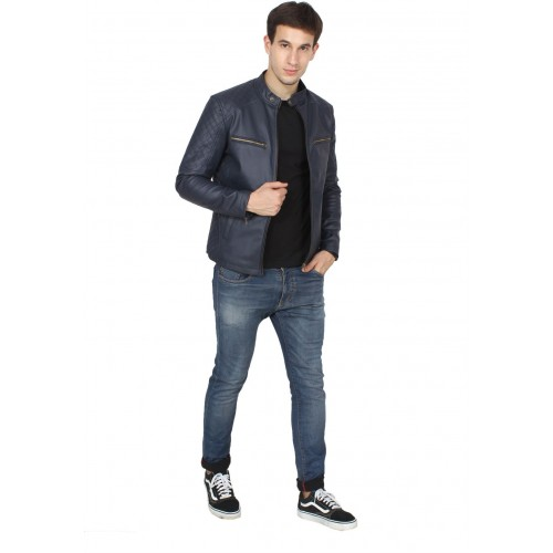 Fashion Mantra Blue Full Sleeve Solid Men Jacket