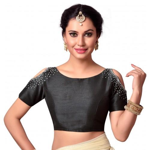 ec2e6a840e Buy Studio Shringaar Boat Neck Women Stitched Blouse online ...
